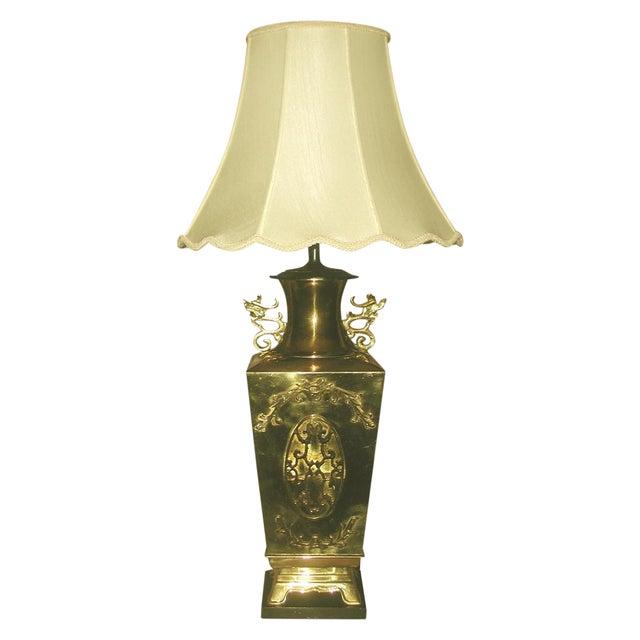Brass Oriental Lamp Large, 3 Way Lighting - Image 1 of 9