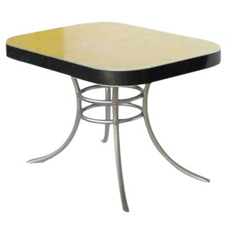 Mid-Century Formica Kitchen Table With Chrome Legs For Sale