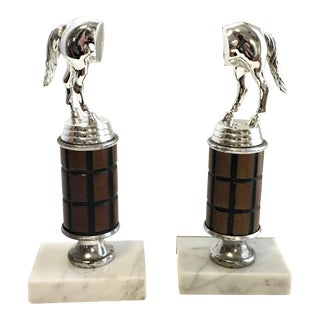 Vintage Equestrian Trophy Bookends - A Pair For Sale
