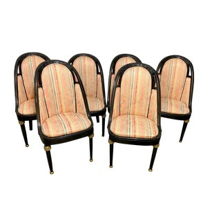 1950s Vintage Hollywood Regency Dining Chairs-Set Of 6 For Sale
