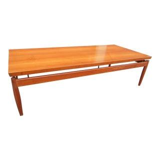 1960s Danish Modern Finn Juhl Teak Floating Coffee Table For Sale