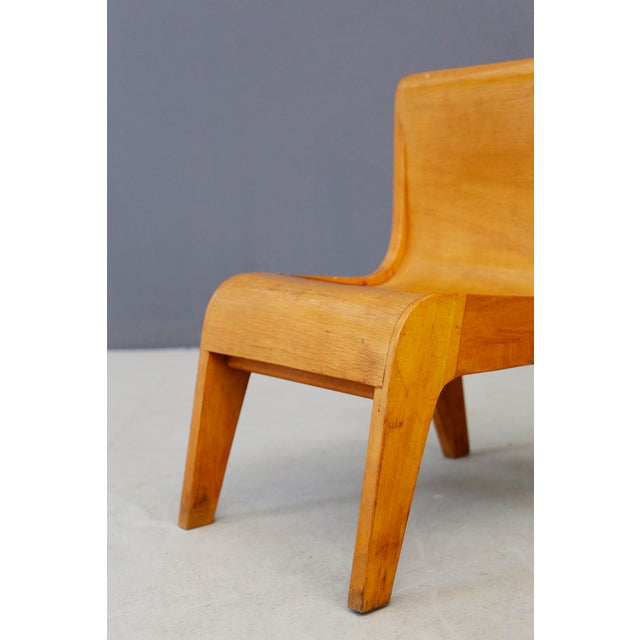 Small children's chair made as a prototype by the Italian master cabinetmaker Pierluigi Ghianda. The small chair is made...