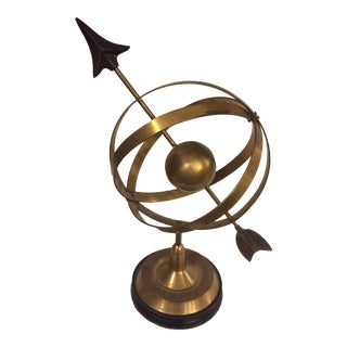 Antique Brass Armillary Sphere Globe