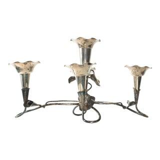 Vintage Ornate Sterling Candelabra 5 Candle Holder, Mappin and Webb For Sale