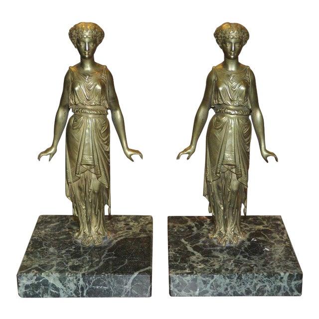 Pair of Vintage Bronze Ladies - Image 1 of 5