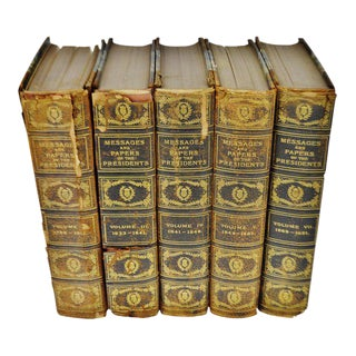 1899 a Compilation of Messages and Papers of the Presidents Illustrated Copy # 12- Group of 5 Volumes For Sale