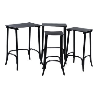 Thonet Ebonised Quartetto Stacking Tables - Set of 4 For Sale