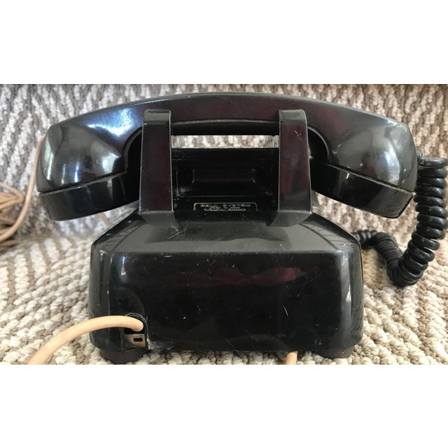 Mid-Century Modern Western Electric 500 Mid-Century Black Rotary Phone For Sale - Image 3 of 10