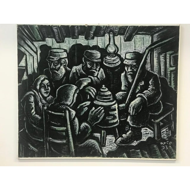 1990s Arie Eckstein Contemporary Oil Painting For Sale - Image 10 of 10