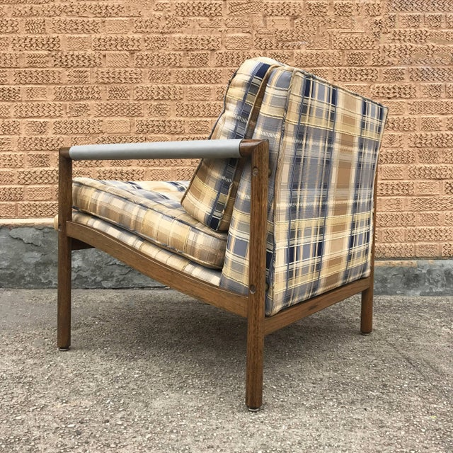 Yellow Mid-Century Modern Harvey Probber Style Upholstered Club Chairs- A Pair For Sale - Image 8 of 11