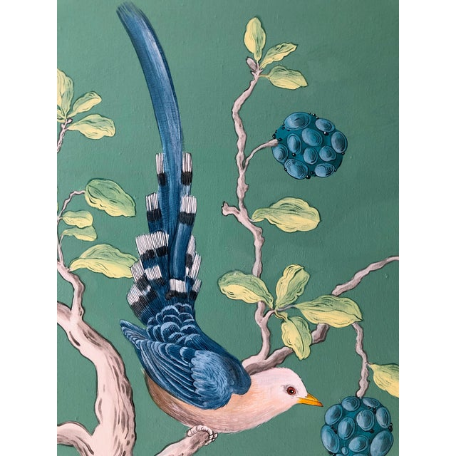 Jade The Arrival Contemporary Bird Botanic Painting For Sale - Image 8 of 12