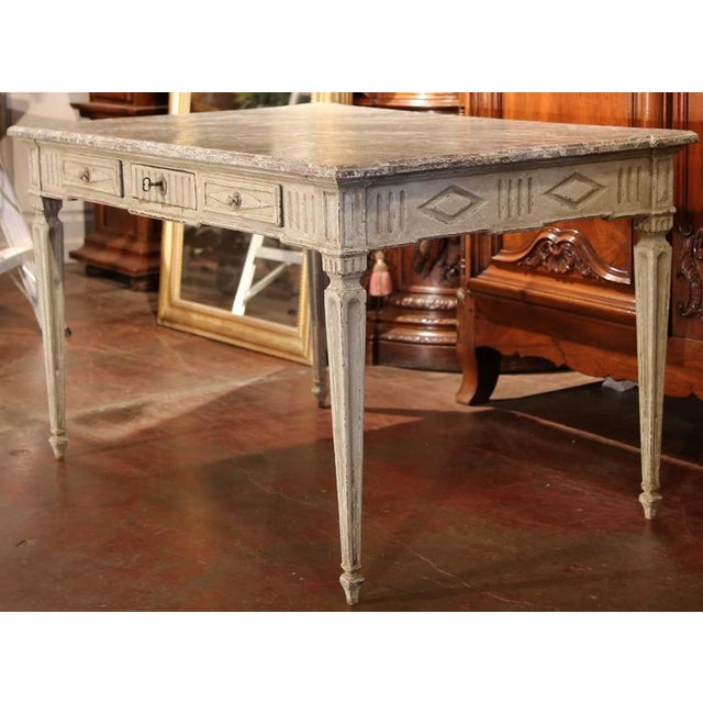 Wood 19th Century French Louis XVI Writing Desk For Sale - Image 7 of 9