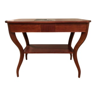 Traditional Baker Mahogany Side Table For Sale
