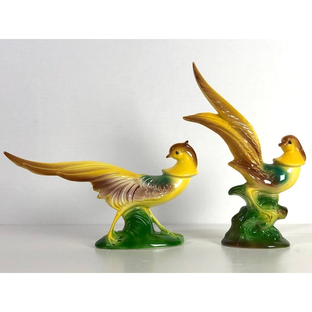 Mid Century Maddux of Califoronia Art Pottery Long Neck Pheasants - a Pair For Sale - Image 4 of 8