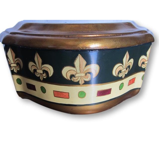 Vintage Enamel Koi Fleur De Lis Box - Image 4 of 10
