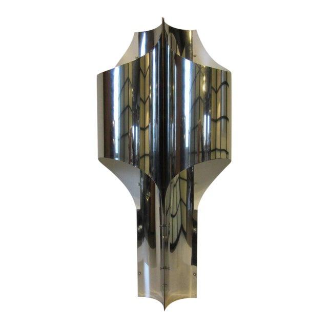 Sonneman Sculptural Chromed Table Lamp For Sale