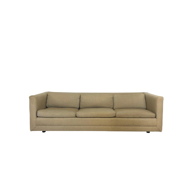 Wood Mid Century Harvey Probber Floating 3 Cushion Sofa For Sale - Image 7 of 7