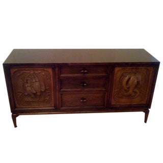 Monteverdi-Young Carved Walnut Sideboard