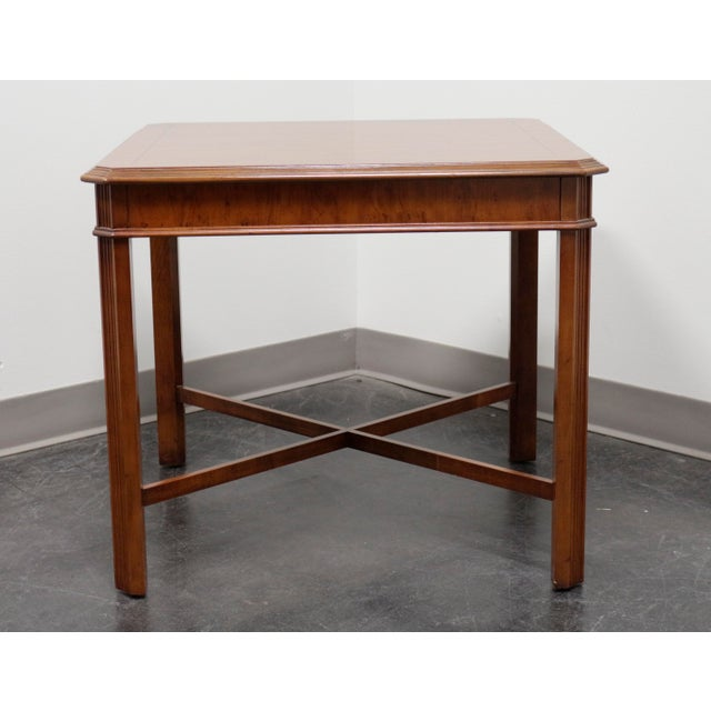 Drexel Heritage Drexel Heritage Yorkshire Yew Wood Chippendale Accent Table For Sale - Image 4 of 9