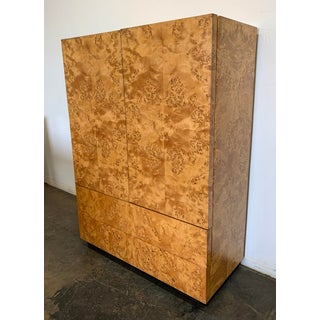 Milo Baughman Burl Wood Highboy Cabinet Preview