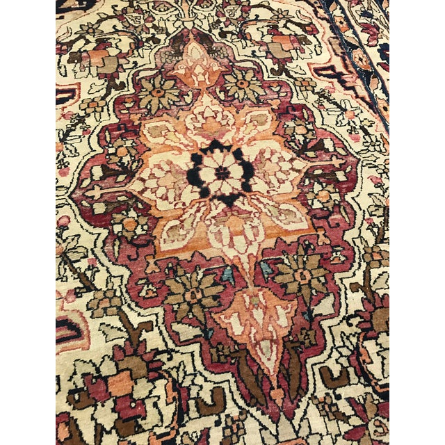 Islamic Antique Persian Kirman Lavar Rug For Sale - Image 3 of 3