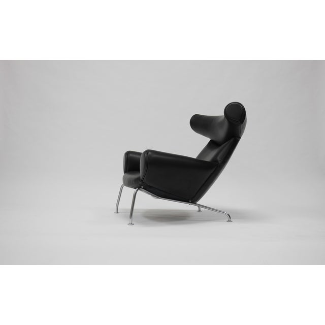 Early Ox Lounge Chair by Hans Wegner for a.p. Stolen For Sale In Boston - Image 6 of 11
