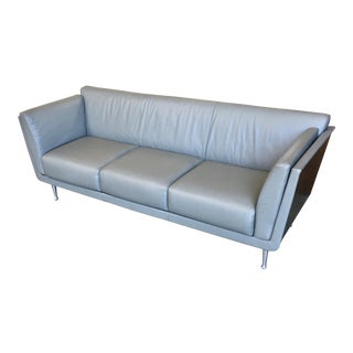 Mark Goetz for Herman Miller Gray Leather Sofa For Sale