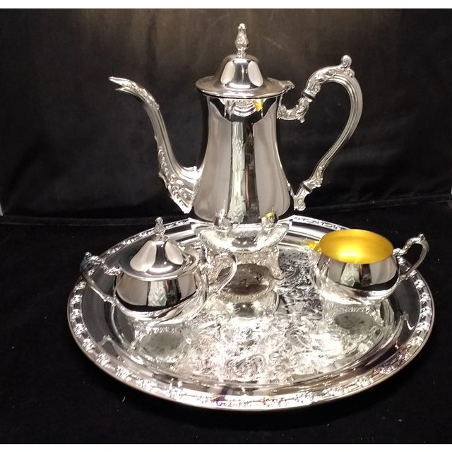 Vintage Silver Plate Oneida Coffee Service. In Box, Never-Used ...