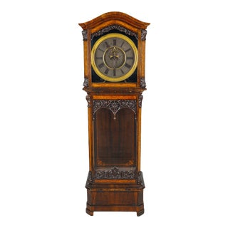 19th Century Austrian Baroque Style Tall Case Clock with Open Escapement For Sale