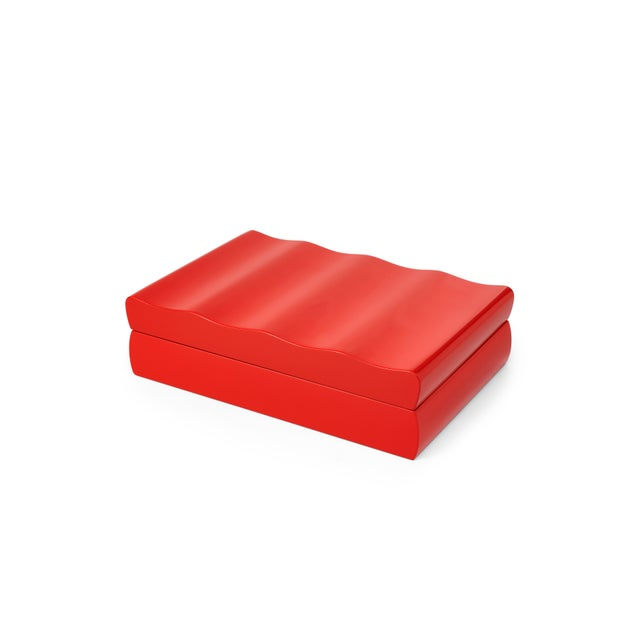 The Lacquer Company Denston Box in Chinese Red - Veere Grenney for The Lacquer Company For Sale - Image 4 of 4