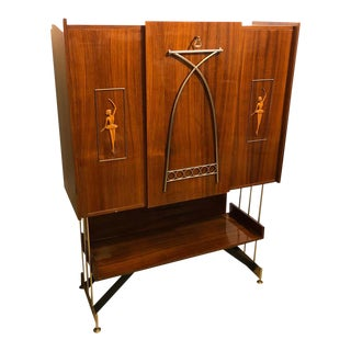 1950s Italian Mid-Century Modern Rosewood Rio Bar Furniture For Sale
