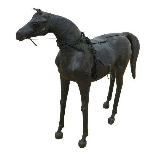 Leather Horse Statue For Sale