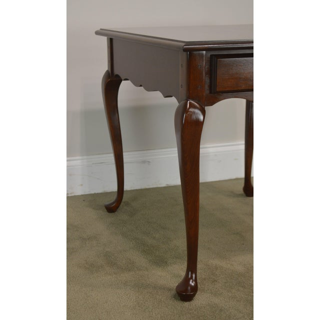 Hitchcock Old Litchfield Solid Cherry Pair Queen Anne One Drawer Side Tables For Sale - Image 12 of 13