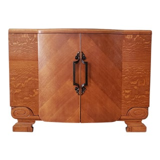 1940s Art Deco Wood Buffet For Sale