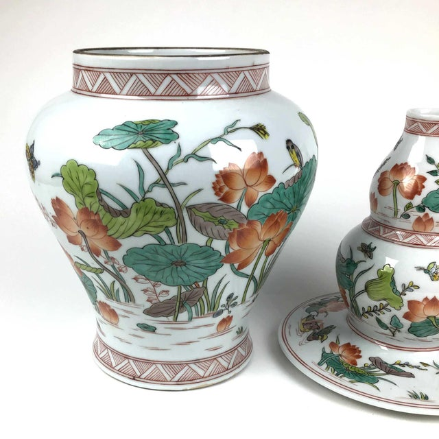 Ceramic Antique Large Chinese Porcelain Vase For Sale - Image 7 of 13