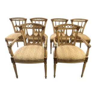 Italianate Style Dining Chairs -Set of 6 For Sale