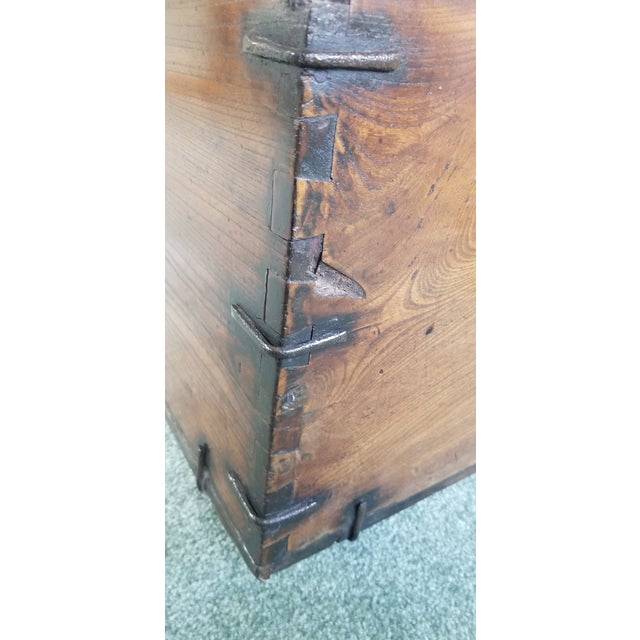 Antique Korean Dowry Small Chest For Sale - Image 4 of 12