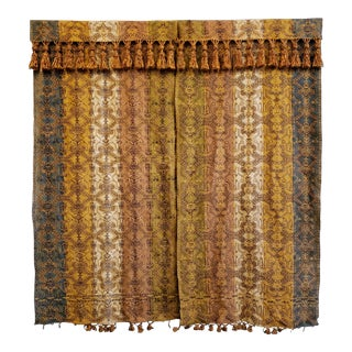 Antique Victorian Portiere Panel Drapes For Sale