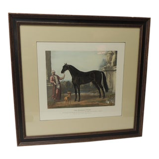 "Framed Plate of the Arabian Horse ""The Byerley Turk"" For Sale"