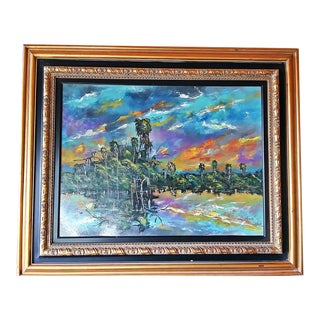 Florida Highwayman Style Painting by M. Sears For Sale