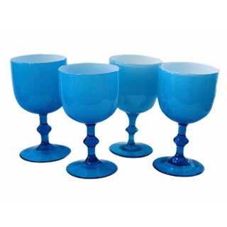 Carlo Moretti Cased Glass Stems - Set of 4 For Sale