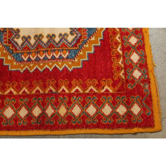 Vintage Moroccan Orange Tribal Rug For Sale In Los Angeles - Image 6 of 10