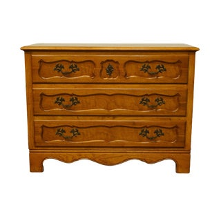 """Baker / Milling Road Furniture French Regency 42"""" Three Drawer Chest 8728-3 For Sale"""