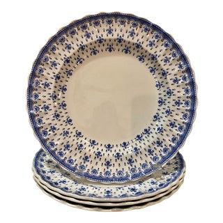 Spode Fleur De Lis Dinner Plates - Set of 4