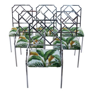 1970s Vintage Milo Baughman Chippendale Style Chairs- Set of 6 For Sale