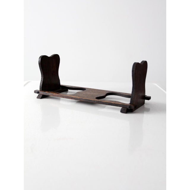 Antique Folding Wood Bookend Shelf - Image 4 of 6
