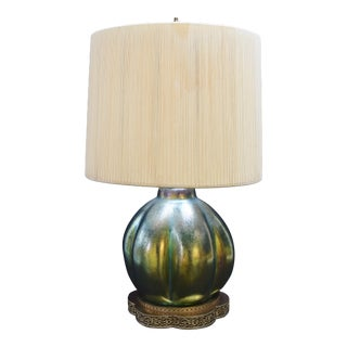 1910s Loetz Table Lamp For Sale