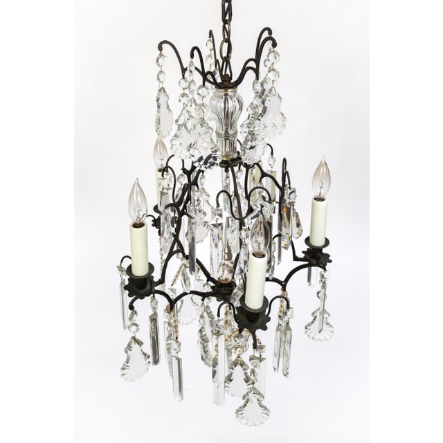 Louis XIV Multi Crystal Birdcage Chandeliers - a Pair For Sale - Image 3 of 13