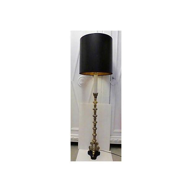 Classic Style Brass Floor Lamp - Image 2 of 7