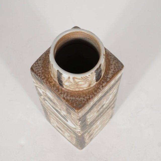 Nils Thorsson Mid-Century Modernist Ceramic Danish Vase with Geometric Designs, Nils Thorsson For Sale - Image 4 of 9
